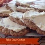Spice Cake Cookies with Cream Cheese Frosting – A Taste of Fall