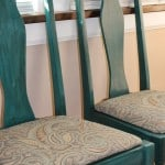 My Craigslist Chairs Makeover, Take 2 – Teal Homemade Chalk Paint Wins!