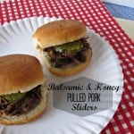 Pinned It, Made It, Loved It >>> Balsamic Vinegar & Honey Pulled Pork Sliders