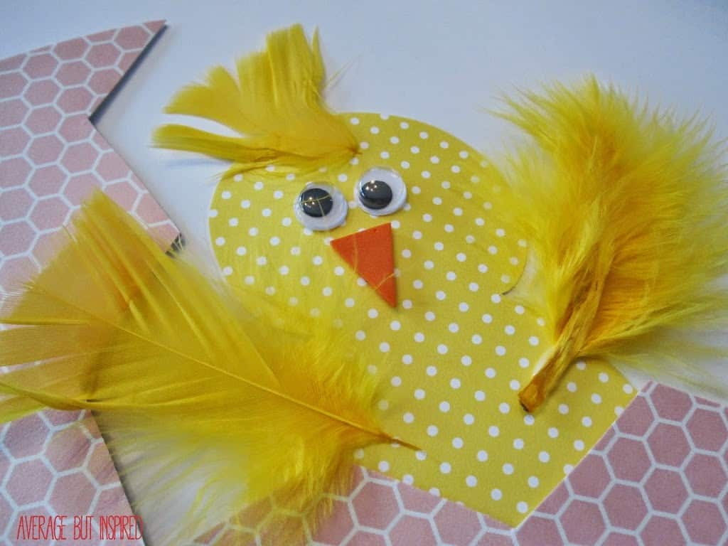 Easter or springtime craft for kids hatching chick egg