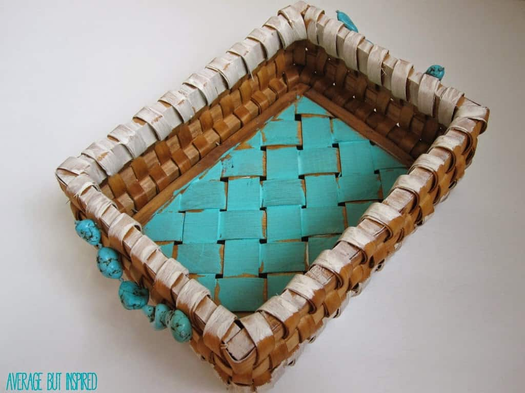Update a basket with paint and beads - Average But Inspired