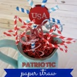 Straws & Strips Forever – A Patriotic Paper Straw Centerpiece