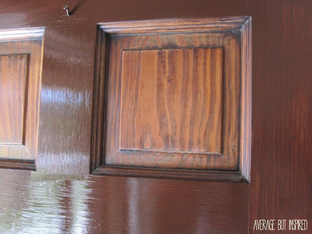 How to refinish an exterior door using gel stain. Average But Inspired
