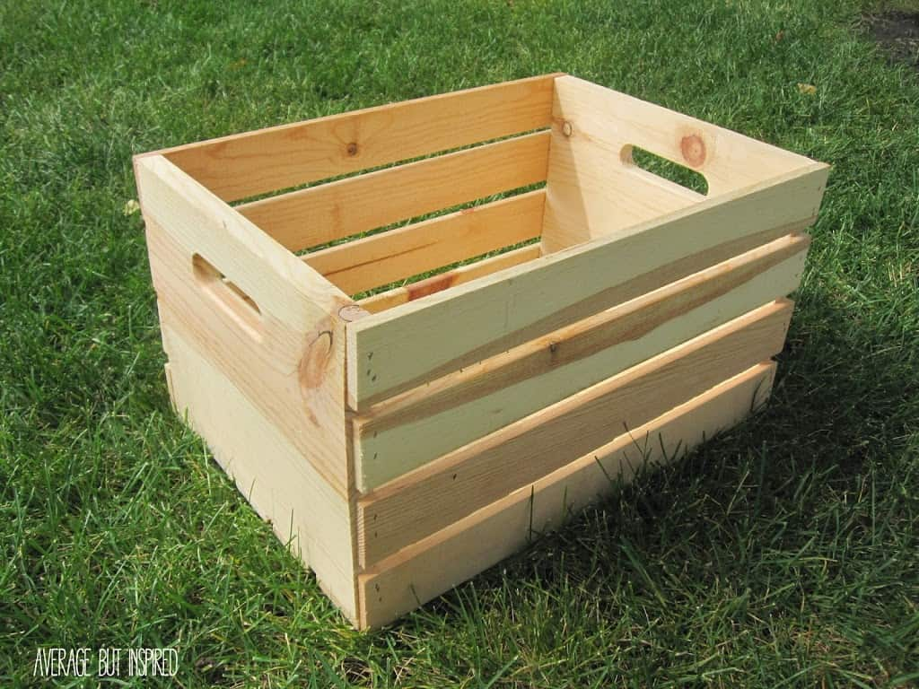 Unfinished crate.