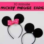 How to Make Your Own Mickey or Minnie Mouse Ears {in 10 Minutes!}