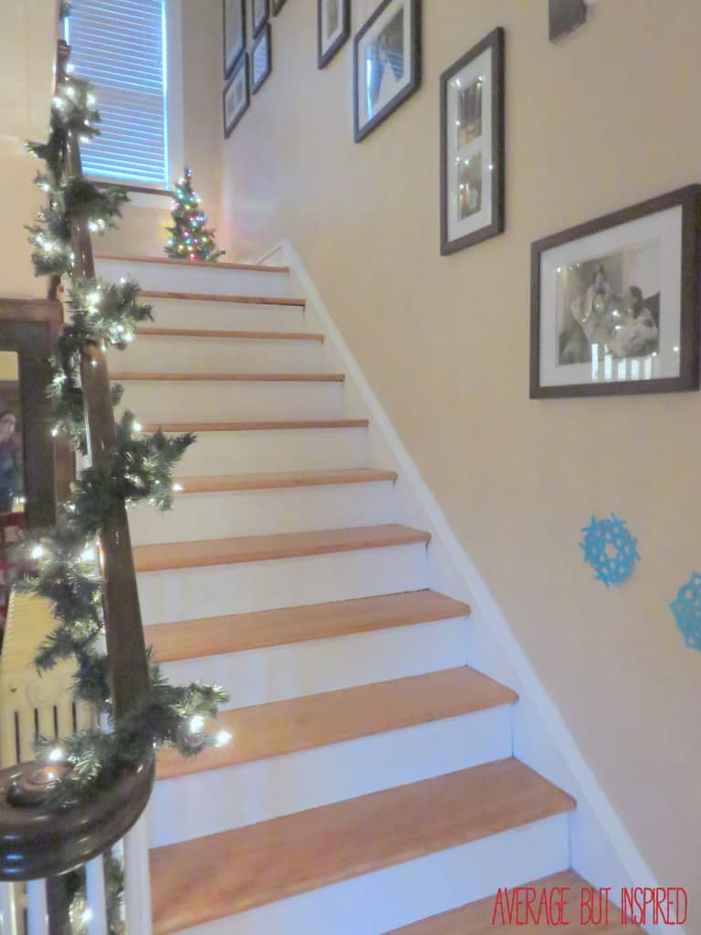 Average But Inspired Christmas Tour - Staircase