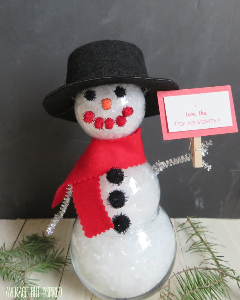 Clear Ornament Snowman