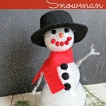 A Clear Ornament Snowman – Monthly DIY Challenge