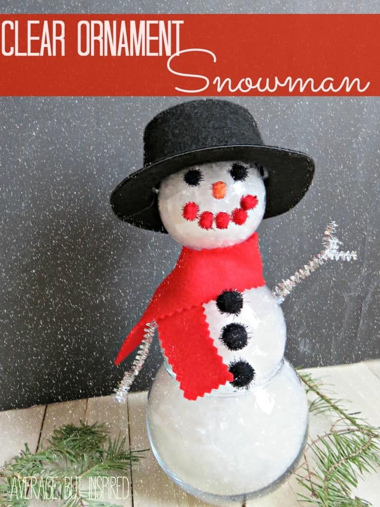 Clear Ornament Snowman (with header)