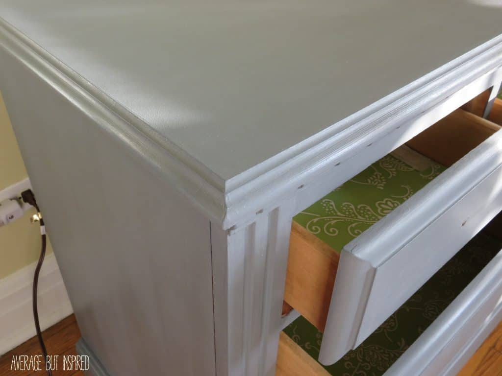 Dresser - second coat closeup