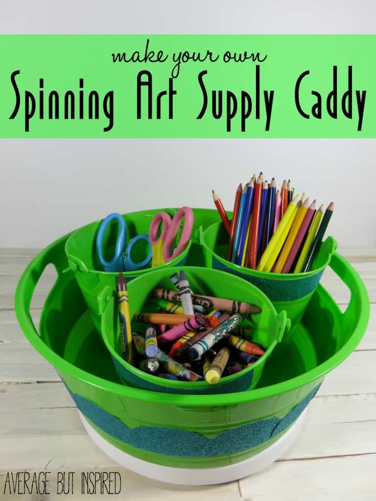 DIY Spinning Art Supply Caddy (header)