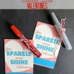 Glitter Glue Valentines {Free Printable Valentines for Kids!}