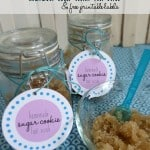 Homemade Sugar Cookie Foot Scrub {and Free Printable Labels}