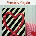 Learn how to make your own fun Valentine's Day art with this easy tutorial!