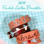 Easy DIY Painted Leather Bracelets