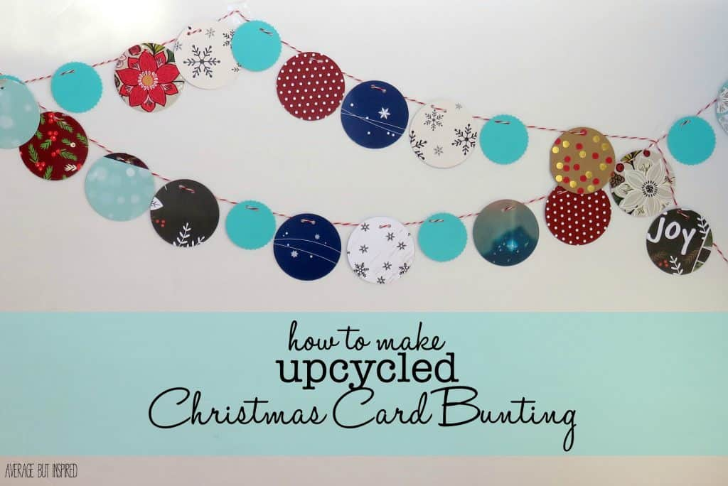 Upcycled Christmas Card Bunting