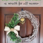 Chalk Painted Grapevine Wreath {A Wreath for All Seasons}
