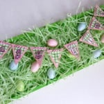 "In just 20 minutes you can make a fun ""egg hunt"" sign for Easter with inexpensive supplies!"