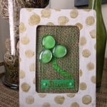 Make a fun shamrock craft for St. Patrick's Day using glass gems from the floral aisle at the craft store.