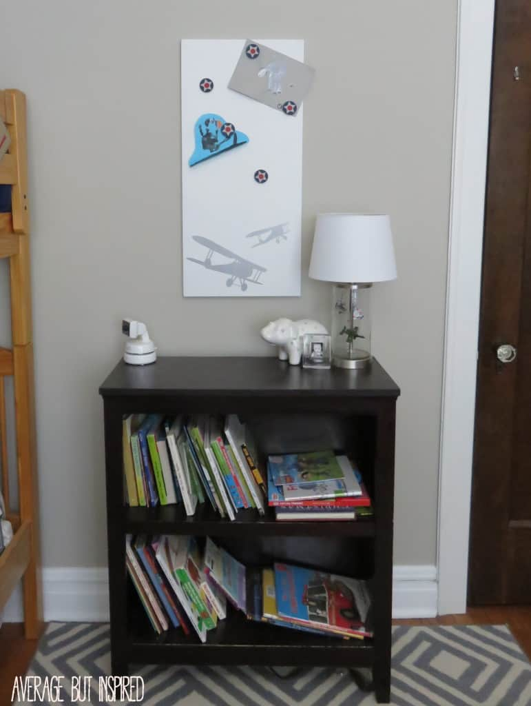 So cool! You can easily customize a plain magnet board, like the SPONTAN from IKEA, with chalk paint!