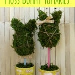 DIY Mr. & Mrs. Moss Bunny Topiaries