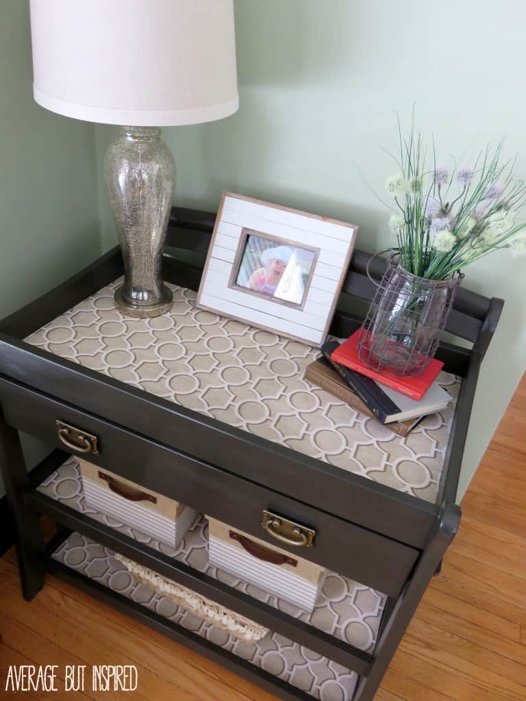 Learn how to apply fabric to furniture with a few simple steps!