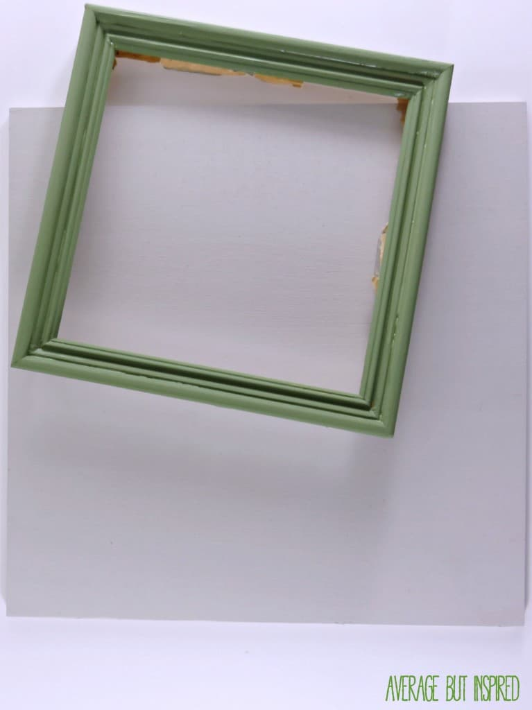 Update a thrift shop picture frame with paint and plywood!  Learn how to make a boutique-style picture frame with this simple tutorial.