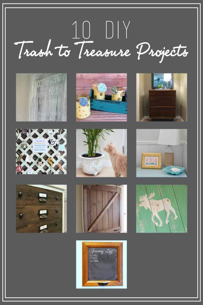 As part of the Monthly DIY Challenge, 10 bloggers share their amazing trash to treasure projects!
