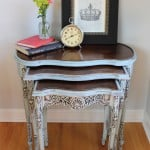 Painted Nesting Tables Makeover
