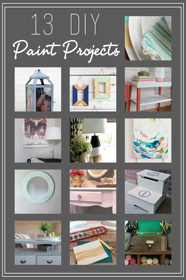 The Monthly DIY Challenge for July is any type of paint on any type of surface!  Check out the awesome inspiration from 13 of your favorite bloggers!