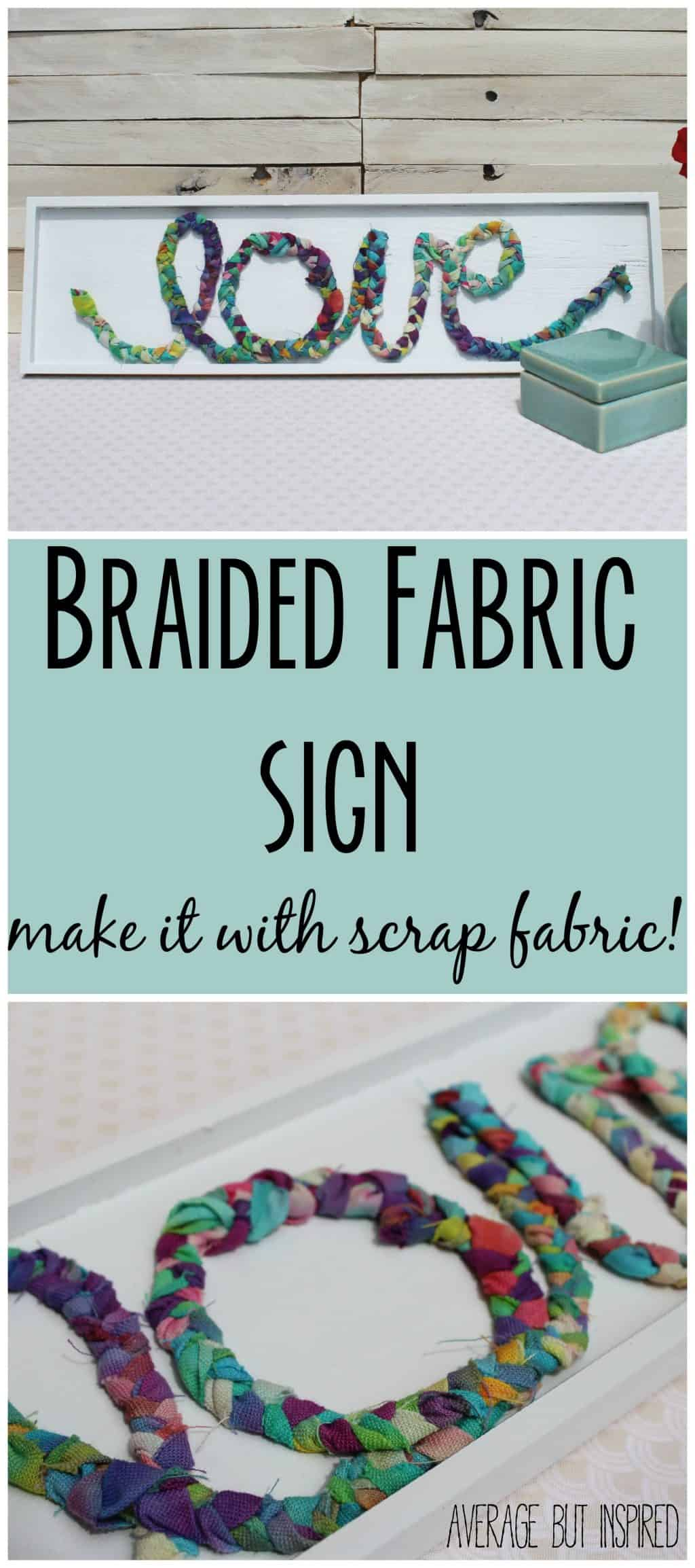 original craft ideas braided fabric scrap sign monthly diy challenge 2582