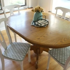 Stenciled Chair Seats – A Thrifty and Fun Kitchen Chair Makeover