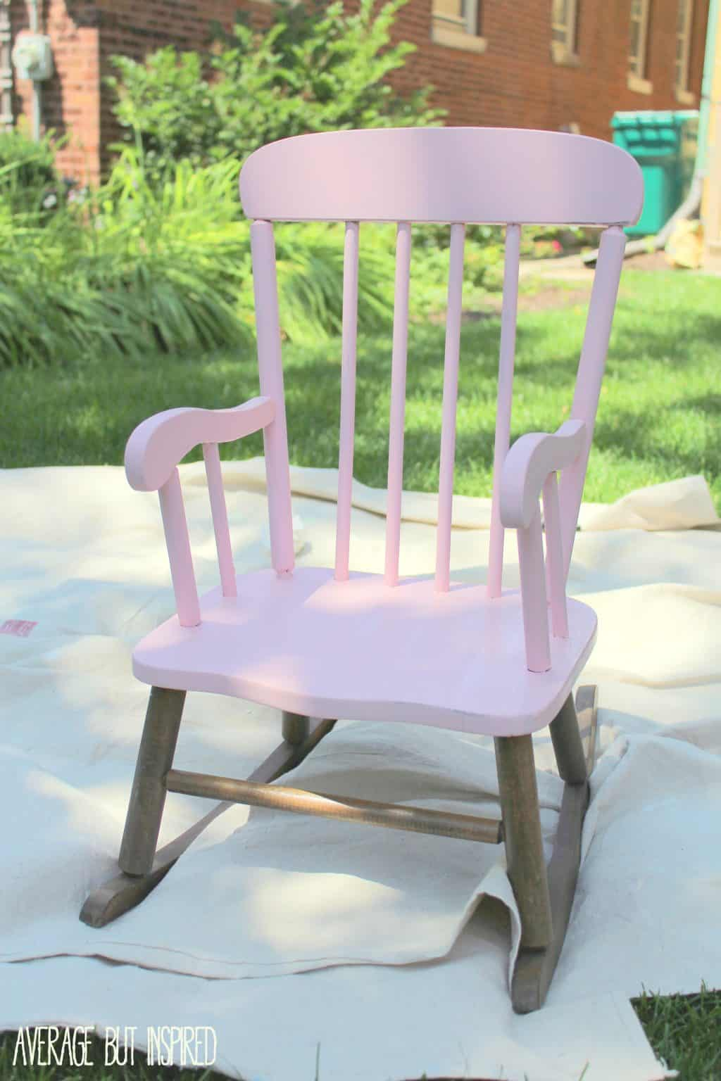 Paint A Children S Rocking Chair From The Thrift Or Craft