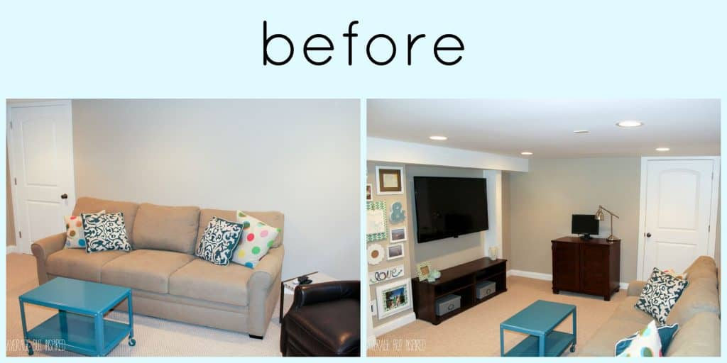 Basement Living Room Captivating A Big Basement Living Room Makeover