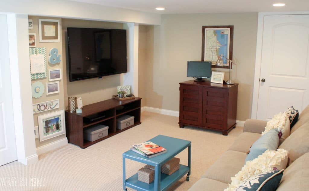 Basement Living Room Mesmerizing A Big Basement Living Room Makeover