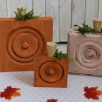 Wood Trim Corner Block Pumpkins