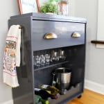 IKEA Rast Hack – a Dresser Becomes a Bar Cart