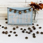 "Golden Acorns ""Gather"" Sign {Home for Fall Blog Hop}"