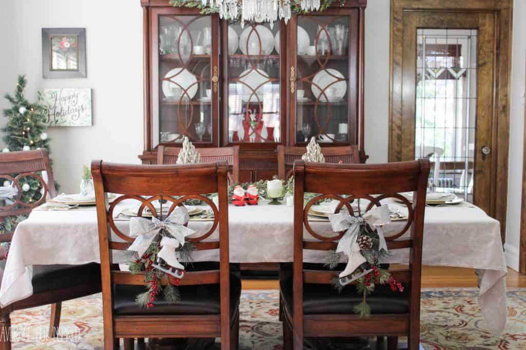 this post has great ideas for decorating your dining room for christmas 5 manageable tips