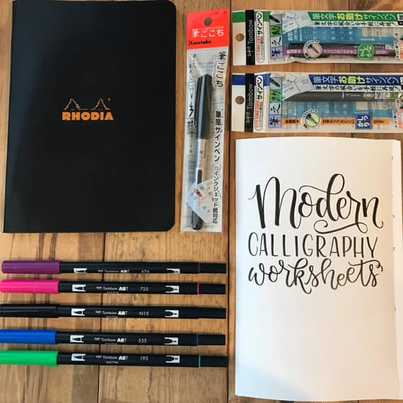 Brush lettering starter kit is a great holiday gift!