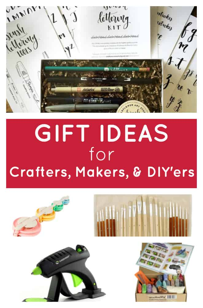 This post has great gift ideas for crafters, makers, and DIYers of all kinds! Find crafty Christmas gift ideas for everyone on your list! #giftguide #giftideas #giftsforcrafters