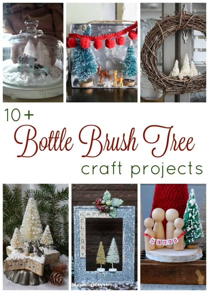 Bottle brush trees are so adorable for Christmas decor! Find eleven fabulous bottle brush tree craft projects right here to get you started on your holiday decorating!