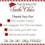 Santa's Stationery {Free Printable}