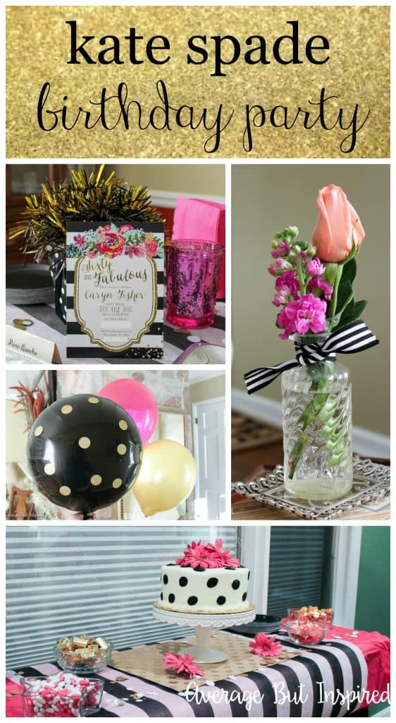 A Kate Spade Inspired Birthday Party - Average But Inspired