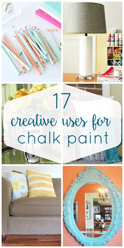 So many great ideas of ways to use up leftover chalk paint or to get comfortable using it! These non-furniture chalk paint projects will get you inspired to get painting!