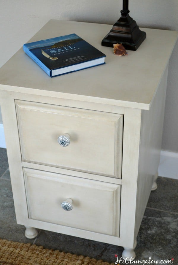 Aged-white-nightstand-makeover-with-Amy-Howad-Paints-H2OBungalow