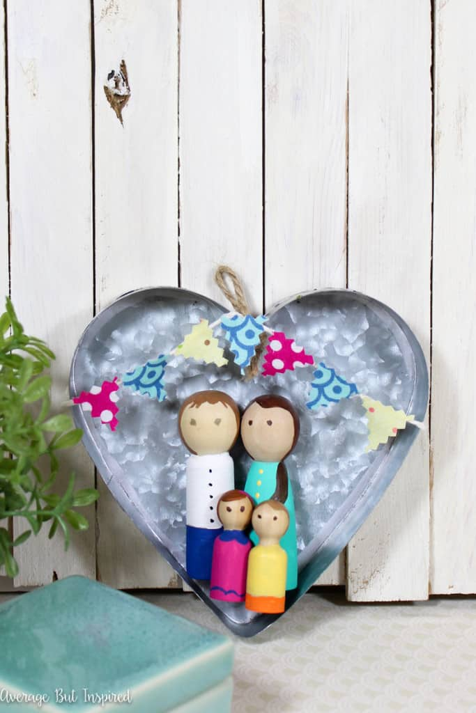 Personalize plain peg dolls to resemble your family in this fun craft!