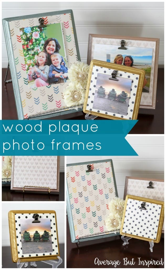 DIY Wood Plaque Picture Frames {Monthly DIY Challenge} - Average But ...
