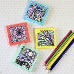Turn Adult Coloring Book Pages Into Magnets! {Monthly DIY Challenge}