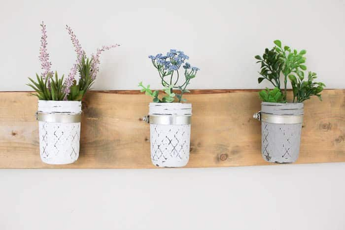 Rustic Mason Jar Planter - Florist bucket transformation - a great way to bring the outdoors inside this spring!